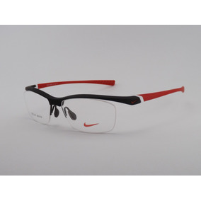 Armação Para Óculos De Grau Nike Preto-vermelho
