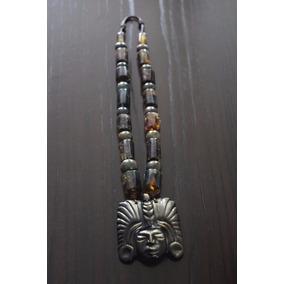 Collar De Esferas De Jade Y Tubos De Piedra Natural Chiapas