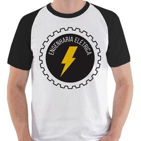 Camiseta Engenharia Elétrica Curso 2 Camisa Blusa Raglan