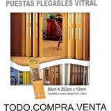 Puertas Plegables Pvc Corredizas Con Ventanilla 80x203