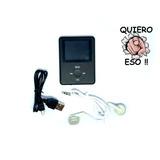 Reproductor Mp4 Mp3 Video Musica Grabador Auricular Pantalla