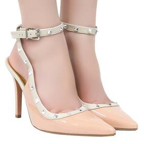 Sapato Feminino Via Marte Chanel Spike Fivela | Betisa