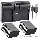 Kit 2 Baterias + Cargador Kastar Gratis Sony Np-f970 8700mah