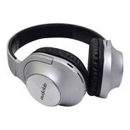 Audífonos Over Head Bluetooth Audiolab Fm Microsd Mp3 Silver