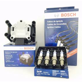 Kit Bobina Cabo Vela Gol Saveiro G5 G6 Fox Polo 1.6 Bosch