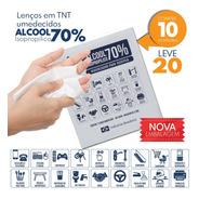 Lenço Umedecido Alcool Gel 70% Prevenção C/10unid