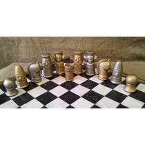 Juego De Ajedrez Artesanal (cerámica) + Tablero