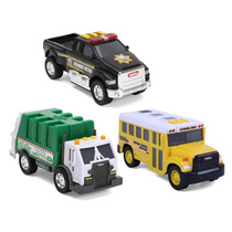 Tonka 3 Pack Carros Metalicos Con Luces Y Sonidos Hasbro.