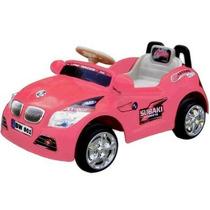Mini Carro Elétrico Infantil P/ Crianças De Até 25kg Rosa