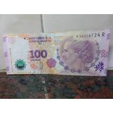 Billete 100 Pesos Reposicion Error Serie R Vanoli Boudou
