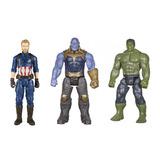 Combo Avengers Thanos, Hulk Y Capitan America X9671