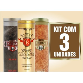Kit Perfume Cuba Gold+royal+black 100ml Cada