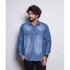 Camisa Social Masculina Jeans Casual Lançamento 2018 Até Xgg