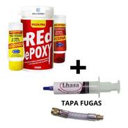 1 Solda Fria Red Epoxy E 1 Tapa Fugas F6 Super 8ml Ar Cond