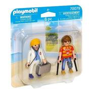 Playmobil Duo Pack Doctora Y Paciente 70079 Educando Full