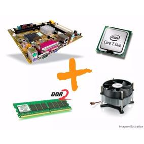 Kit Placa Mae 775 Ddr2+ Dual Core 2.0+ 512 Memoria Promoção