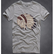 Camisetas Masculina Indio Bordado Panache Abercrombie Fitch