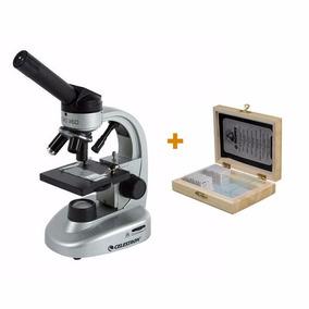 Microscopio Celestron 360 + Set De Muestras Biológicas