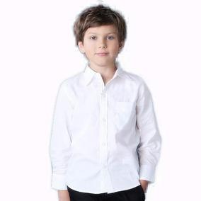 Camisa Colegial Niño Niña Colegio Blanco Celeste Manga Larga