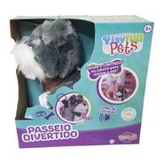 Playfull Cão Cinza Passeio Divertido Toyng Controle Remoto