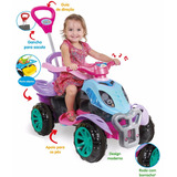 Quadriciclo Infantil Com Pedal Feminino Menina Maral