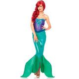 Fantasia Sereia Adulta Ariel Disney Super Luxo Com Cauda