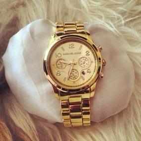 Relógios Feminino Luxuoso Resistente A Água Folheado A Ouro