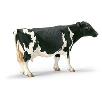Schleich Jugete Vaca Holstein, Color Blanco Con Manchas Negr