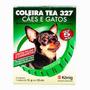 Coleira Antipulgas Tea 327 Cães Filhotes 5 Meses De Proteção