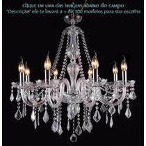 Lustre Cristal Candelabro Maria Tereza 8 L Clear
