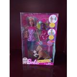 Muñeca Barbie Con 4 Mascotas Y Accesorios + Envio Gratis