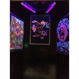 Poster Retro Luz Negra Psychedelic Años 60