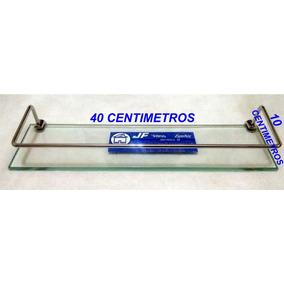 Porta Shampoo Prateleira Vidro Com Grade P/ Banheiro 40 X 10