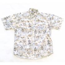 Camisa Hawaiana Tropical Floreada Hombre Talle L