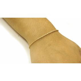 Pulseira Corda 18cm Ouro 18k - Pc106