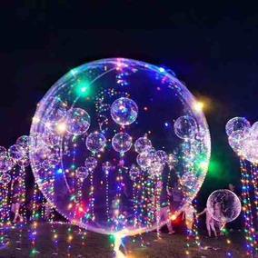 10x Balao P/ Festa Led Bubble Aniversario Casamento Bexiga