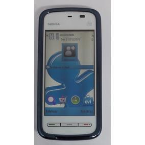 Nokia 5235-1d Prata/azul Original Com Avaria Sem Garantia