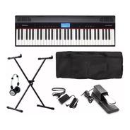 Teclado Digital Roland Go Piano Go61p + Suporte + Fone