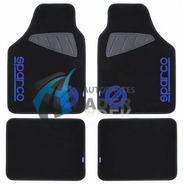 Sparco Cubre Alfombra Universal Polyester/goma Negra/azul 4p