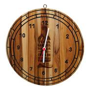 Relógio Personalizado Com Desenho De Garrafa - Dom Chamorro
