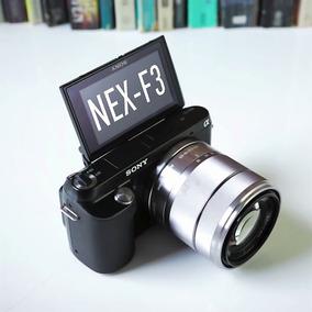 Câmera Sony Nex-f3 16mp Full Hd Cartão 16gb + Lente 18-55mm