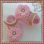 Sapatinho De Croche Pra Bebe Com Perolas E Strass E Flor