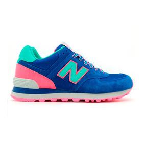 new balance mujer azul rosa