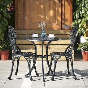 Ikayaa 3pcs Patio Balcón Bistro Set Mesa Y Sillas...
