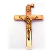 Crucifijo En Cobre Y Bronce