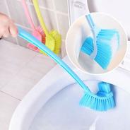 Cepillo Escobilla P/baño Doble Cerda Con Base Vintash