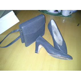 Conjunto De Zapatos Y Cartera Italianos