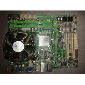 Placa Madre Biostar 945gc M7 Te + Procesador + 1gb Ram