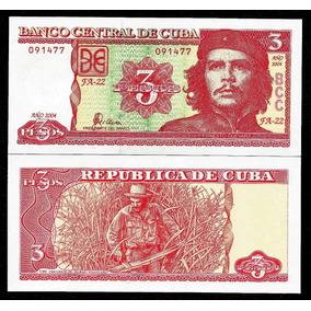 Cuba 3 Pesos 2004 P. 127 Fe Cédula Chê Guevara - Tchequito