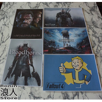 Set 10 Posters A4 Gamer03 - Ronin Store - Rosario